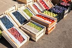 Frutas y verduras orgánicas frescas para la venta fotografía de archivo libre de regalías