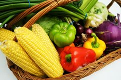 Frutas y verduras orgánicas sanas Fotografía de archivo libre de regalías
