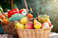 Frutas y verduras orgánicas - comida sana Imágenes de archivo libres de regalías