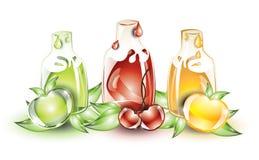 Frutas y zumos de fruta Imagen de archivo libre de regalías