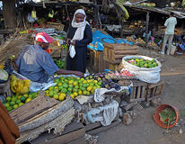 Fruti market in Malindi Royalty Free Stock Image