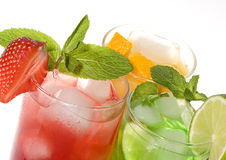 Fruties cocktails Stock Images