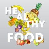 Frutifica o alimento saudável ilustração do vetor