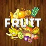 Frutifica o alimento saudável ilustração royalty free