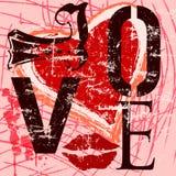 Frutifica o coração na placa Fotografia de Stock Royalty Free