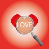 Frutifica o coração na placa Fotografia de Stock