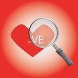 Frutifica o coração na placa Foto de Stock