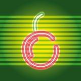 Frutifica o sinal de néon ilustração royalty free