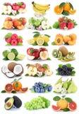 Frutificam as uvas alaranjadas s fresco da banana das laranjas das maçãs das bagas da maçã Imagens de Stock