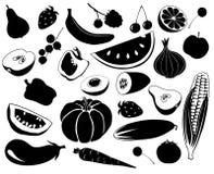 Frutificam os vegetais ilustração stock