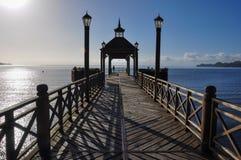 Frutillar船坞,在智利 图库摄影