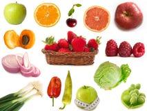 Frutis y vehículos Foto de archivo