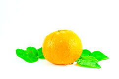 Fruto alaranjado no fundo branco Fotografia de Stock Royalty Free