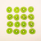 Fruto cortado Figura geométrica dos frutos Vista superior Fotografia de Stock