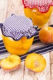 Fruto cozido do pêssego Fotografia de Stock