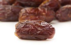 Fruto cru orgânico fresco da data de Brown imagens de stock