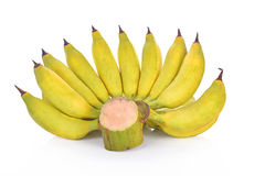 Fruto da banana no fundo branco Imagens de Stock