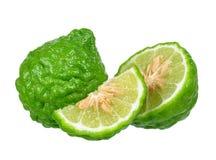 Fruto da bergamota isolado no fundo branco fotos de stock royalty free