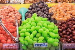 Fruto da fervura no xarope Fotografia de Stock