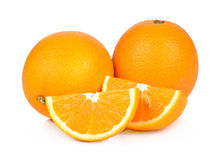 Fruto da laranja doce no fundo branco Imagem de Stock