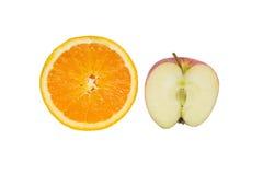 fruto da maçã e da laranja fotografia de stock royalty free