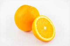 Fruto das laranjas no fundo branco Fotos de Stock Royalty Free