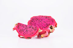 Fruto de Ásia - ftuit do dragão com corte Imagem de Stock