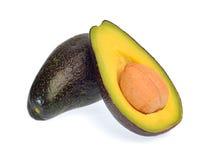 Fruto de abacate isolado no fundo branco Fotos de Stock Royalty Free
