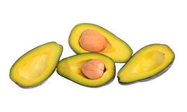 Fruto de abacate isolado no fundo branco Imagem de Stock Royalty Free