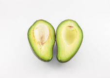 Fruto de abacate no fundo branco Foto de Stock