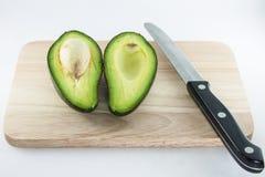 Fruto de abacate no fundo branco Imagem de Stock