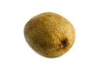 Fruto de quivi e seus segmentos cortados isolados no fundo branco Imagem de Stock