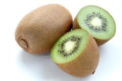 Fruto de quivi isolado no fundo branco, macro Fotos de Stock