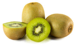 Fruto de quivi suculento isolado no fundo branco Fotografia de Stock Royalty Free