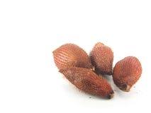 Fruto de Salacca no fundo branco Fotografia de Stock Royalty Free