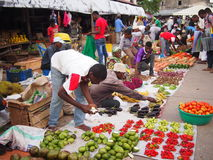 Fruto de Zanzibar & tenda de Veg fotos de stock royalty free