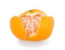 Fruto descascado da tangerina ou do mandarino Fotografia de Stock Royalty Free