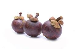 Fruto do mangustão no fundo branco Foto de Stock Royalty Free