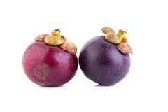Fruto do mangustão no fundo branco Imagens de Stock Royalty Free