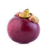Fruto do mangustão no fundo branco Foto de Stock