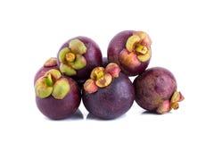 Fruto do mangustão no fundo branco Fotos de Stock
