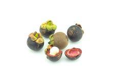 Fruto do mangustão no fundo branco Fotografia de Stock
