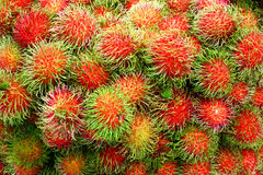 Fruto do Rambutan Foto de Stock Royalty Free