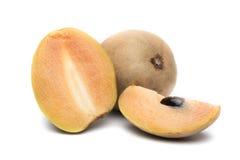 Fruto do Sapodilla isolado no fundo branco fotografia de stock royalty free