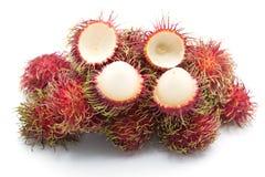 Fruto doce do Rambutan isolado no fundo branco Imagens de Stock