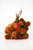 Fruto dos Rambutans no fundo branco Fotos de Stock Royalty Free