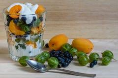 Fruto e Berry Dessert imagens de stock