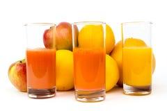 Fruto e suco Fotos de Stock