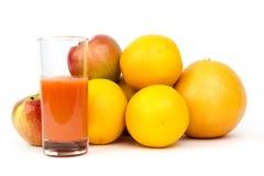 Fruto e suco imagens de stock