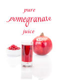 Fruto e suco da romã Foto de Stock